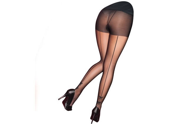 Pretty Polly Curves Backseam with Bow Tights Black XXL