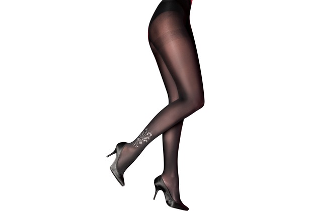 Pretty Polly Curves Embellished Detail Tights Black Multi XXL
