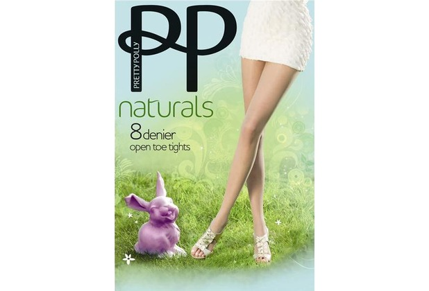 Pretty Polly Naturals 8D Open Toe Tights SlightlySunkissed - ML