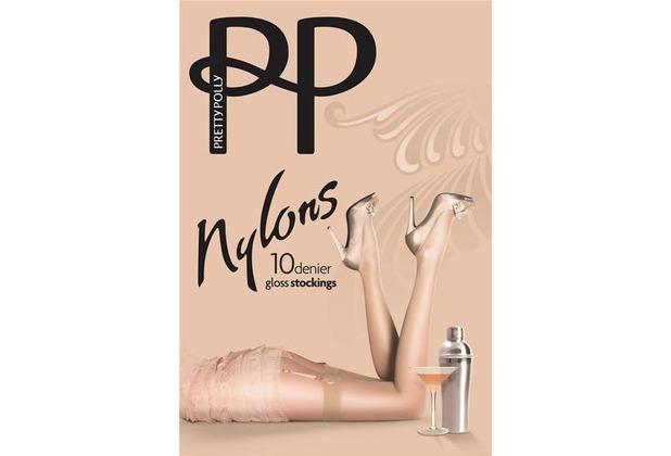 Pretty Polly Nylons 10D Gloss Stockings BarelyBlack - ML