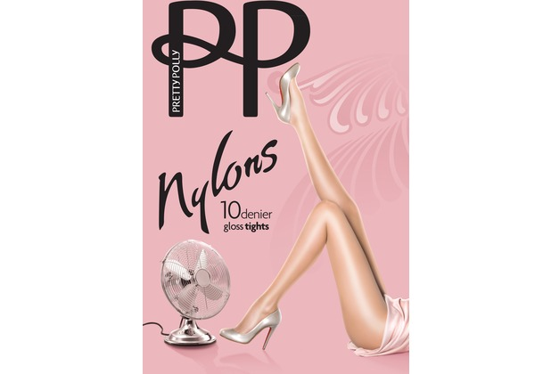 Pretty Polly Nylons 10D Gloss Tights Black - S