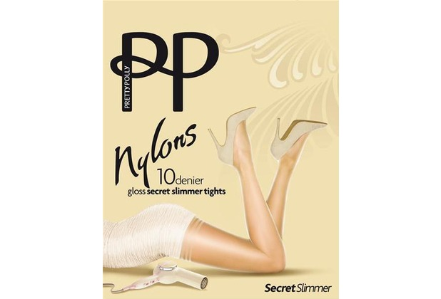 Pretty Polly Nylons 10D Secret Slimmer Tights Black - ML