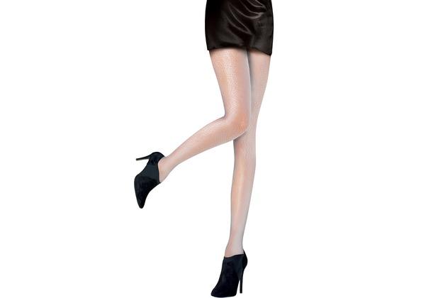 Pretty Polly Premium Fashion  Microdot Tights soft grey One Size
