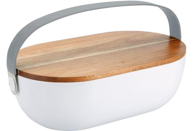 PURESIGNS Brotkasten PANE mit Holzdeckel