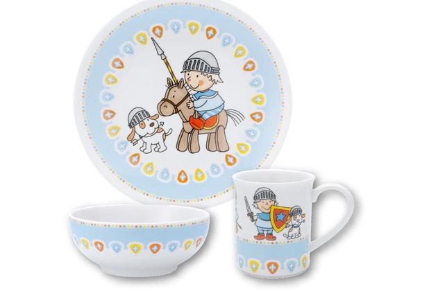 PURESIGNS Kindergeschirr-Set Ritter MIKO 3tlg. aus Porzellan