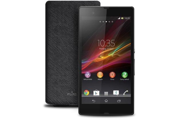 Puro Flip Case - Flip - Sony Xperia Z - schwarz