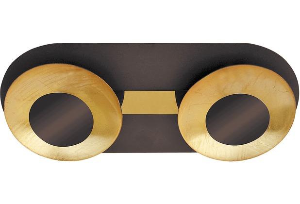 Rabalux Brigitte LED Deckenleuchte 2x5W braun/ gold