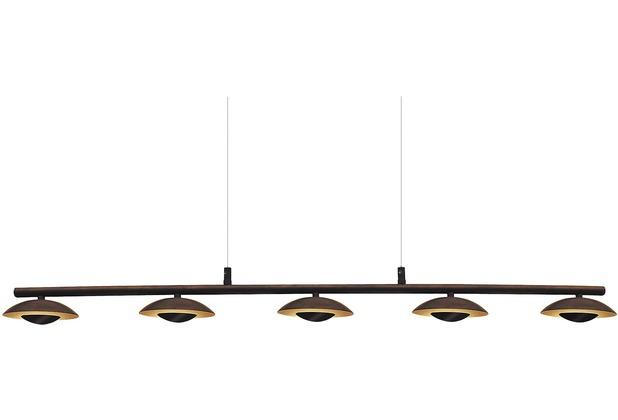 Rabalux Brigitte LED Deckenleuchte 5x5W braun/ gold, Hängelampe