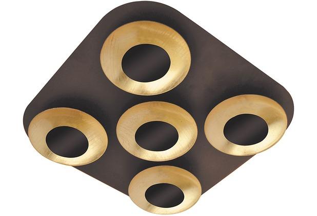 Rabalux Brigitte LED Deckenleuchte 5x5W braun/ gold, quadratisch