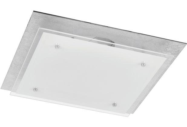 Rabalux June LED Deckenleuchte 24W silberfoiled/ weiß