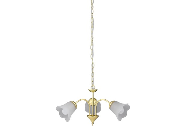 Rabalux Rafaella 3er Pendel gold/ opal glas