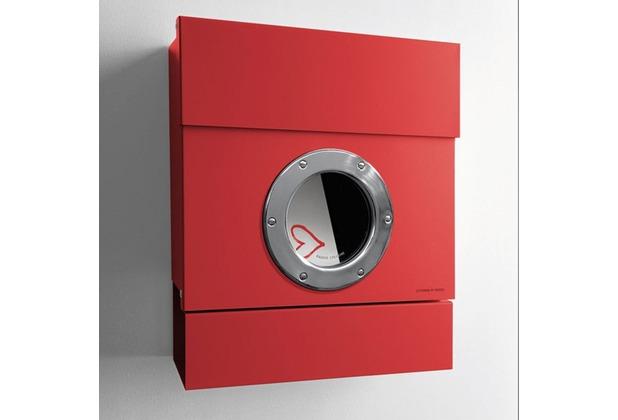 Radius Cologne design Radius Briefkasten LETTERMAN II rot mit Zeitungsrolle