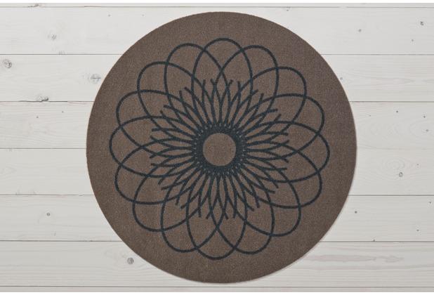 Raffi Fußmatte Raffi Ray Round, taupe 66 cm rund