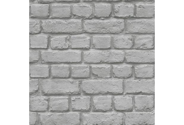 Rasch 226720, Papiertapete, grau, schwarz