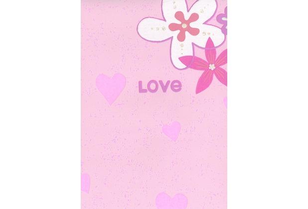 Rasch 544008, Papiertapete, rosa