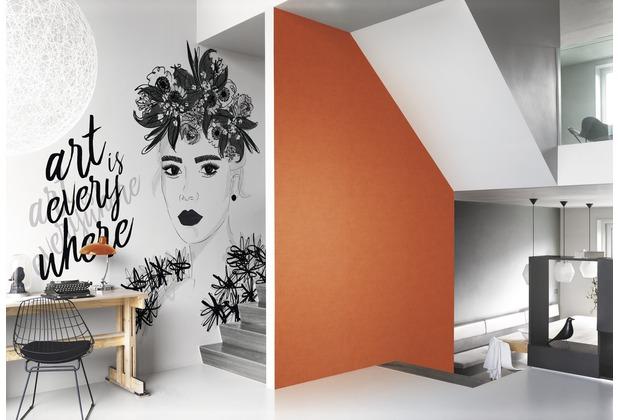 Rasch Digitaldrucktapete Young Artists Wandbild 100860 schwarz, weiß