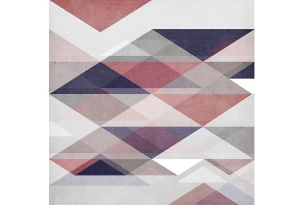 Rasch Digitaldrucktapete Young Artists Wandbild 100945 rosa, lila, blau, grau
