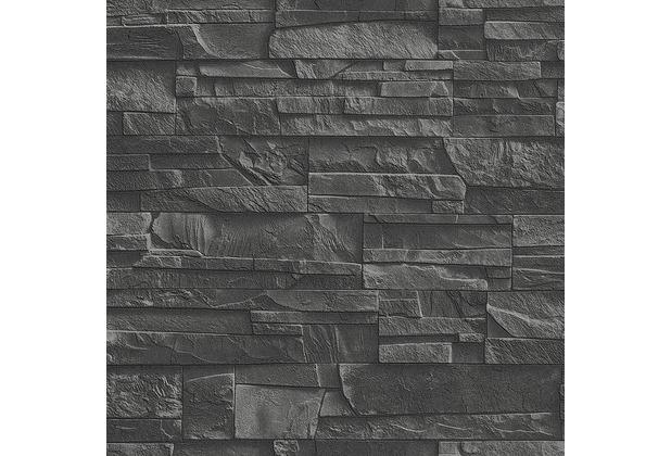 """Rasch Factory \""""Mauer\""""; 475036; schwarz, grau"""