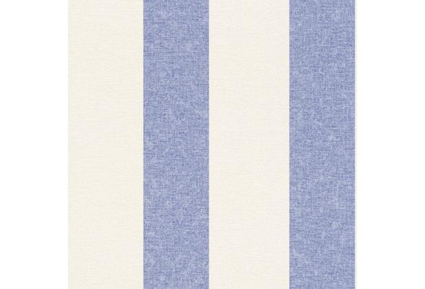 Rasch Florentine Vlies Tapete 448719 Streifen weiß blau