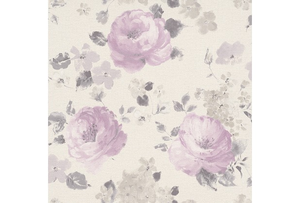 "Rasch Florentine \""Blüte\""; 448832; bordeaux, rosa, braun"
