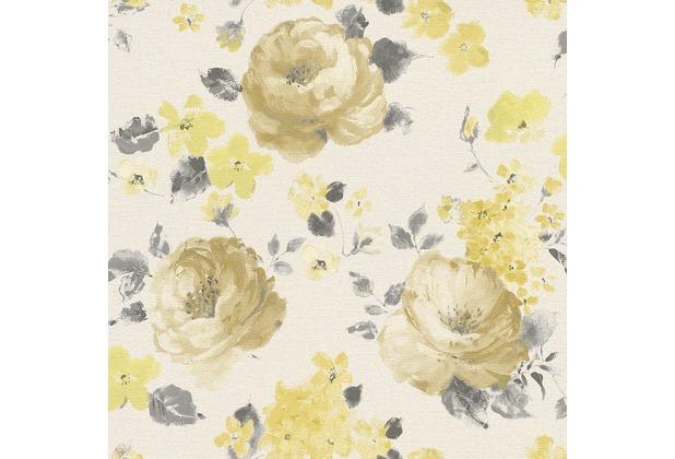 """Rasch Florentine \""""Blüte\""""; 448887; braun, gelb"""