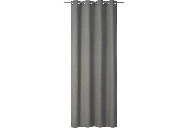 rasch home Gardine mit Ösen Corteza grau 140 x 255 cm