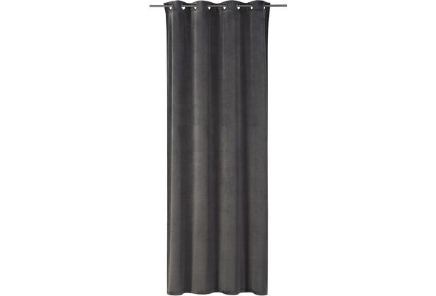rasch home Gardine mit Ösen Odeon grau 140 x 255 cm
