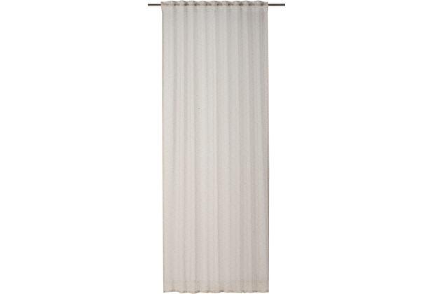 rasch home Gardine mit Schlaufenband Linnea beige 140 x 255 cm