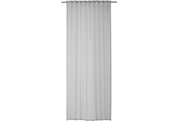 rasch home Gardine mit Schlaufenband Linnea hellgrau 140 x 255 cm