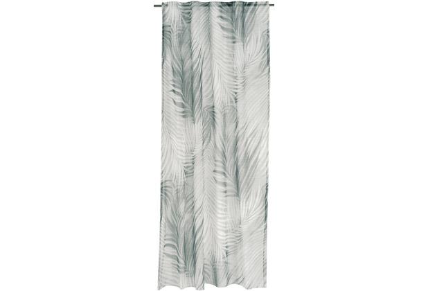 rasch home Gardine Tahiti grün 135 x 255 cm