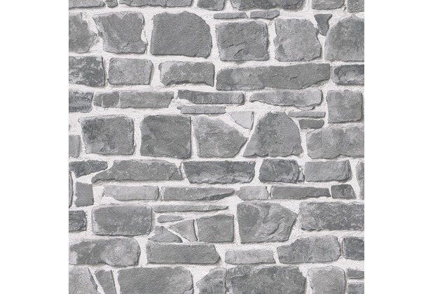 Rasch Papiertapete, 265620, grau, weiß