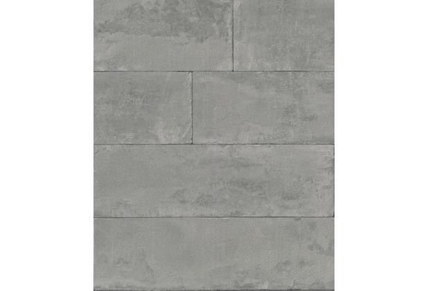 Rasch Tapete Brick Lane 426021 Grau 0.53 x 10.05 m