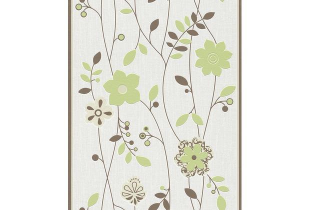 Tapetenmuster wohnzimmer grün  Rasch Tapete Deutschland blüht auf, grün, braun 405125 | eBay
