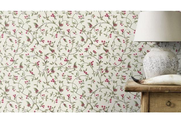 Rasch Tapete Lazy Sunday II Motiv 400809 creme grün pink