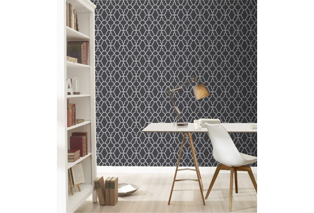 Rasch Tapete Modern Art 309348 Braun, Silber 0.53 x 10.05 m