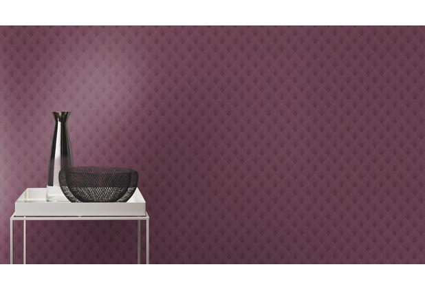 Rasch Tapete Modern Art 433623 Rot, Lila 0.53 x 10.05 m