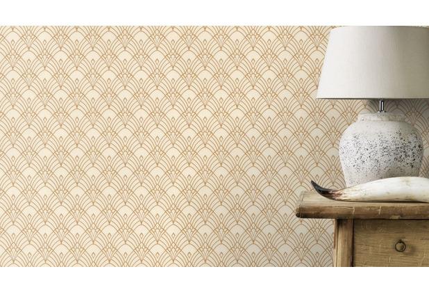Rasch Tapete Modern Art 433913 Beige, Creme, Gold 0.53 x 10.05 m