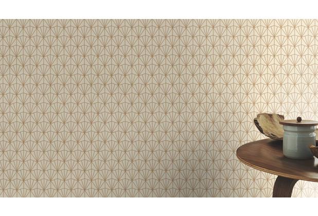 Rasch Tapete Modern Art 434019 Beige, Gold 0.53 x 10.05 m