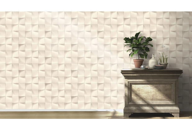 Rasch Tapete Modern Art 611359 Weiß 0.53 x 10.05 m