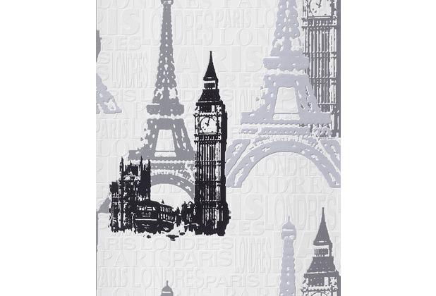 Rasch Tapete, schwarz, weiß, grau 734805