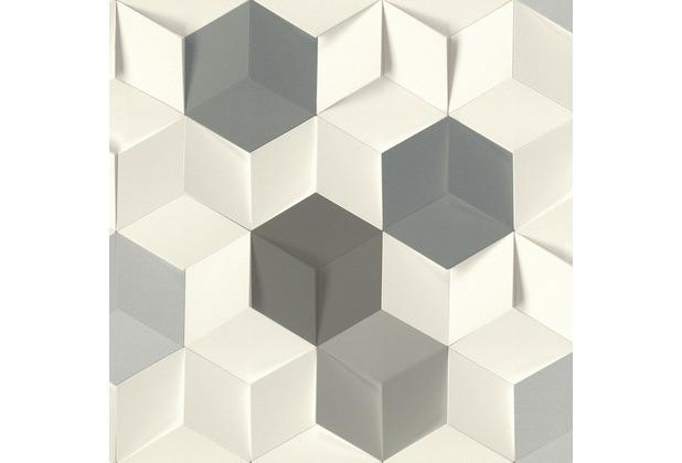 Rasch Tapete Selection 622348 Grau, Weiß, Silber 0.53 x 10.05 m