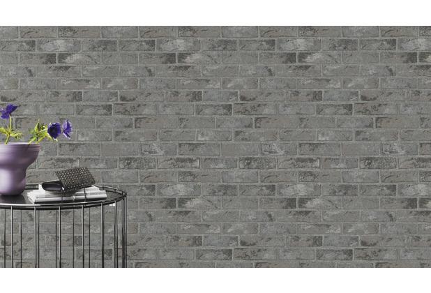 Rasch Tapete Selection Relief/Vlies 408010 Grau, Schwarz 0.53 x 10.05 m