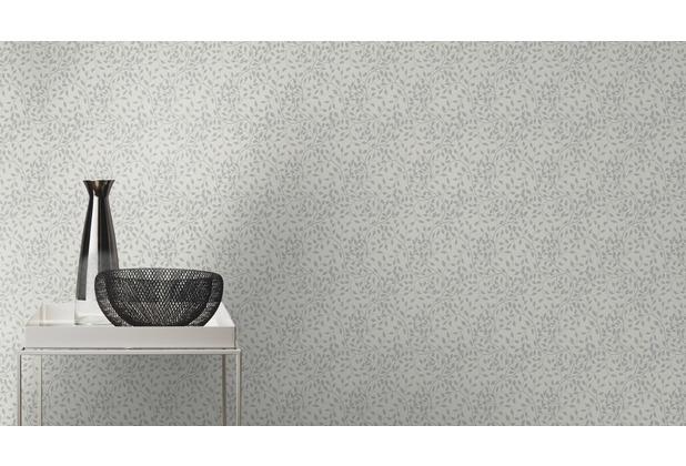Rasch Tapete Selection Relief/Vlies 755732 Grau, Silber 0.53 x 10.05 m