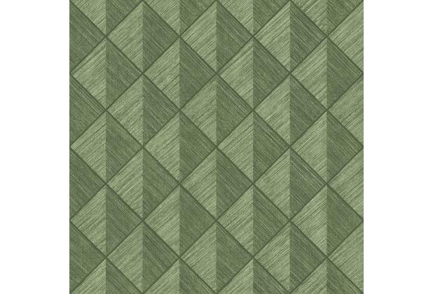 Rasch Tapete Selection Vinyl/Vlies 407426 Oliv 0.53 x 10.05 m