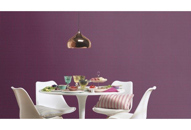 Rasch Tapete Vanity Fair II Muster 525335 pink dunkelblau