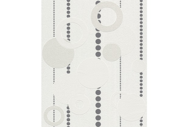 Rasch Tapete, weiß, grau 788006