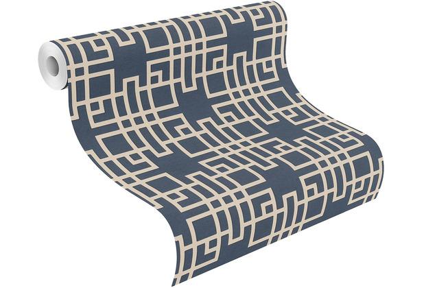 Rasch Vinyltapete Muster & Motive 409253 Kimono Blau-nachtblau 0.53 x 10.05 m