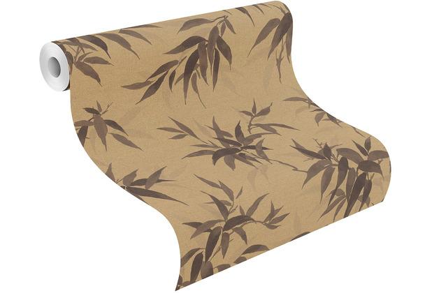Rasch Vinyltapete Muster & Motive 409765 Kimono Gold-Mattgold 0.53 x 10.05 m