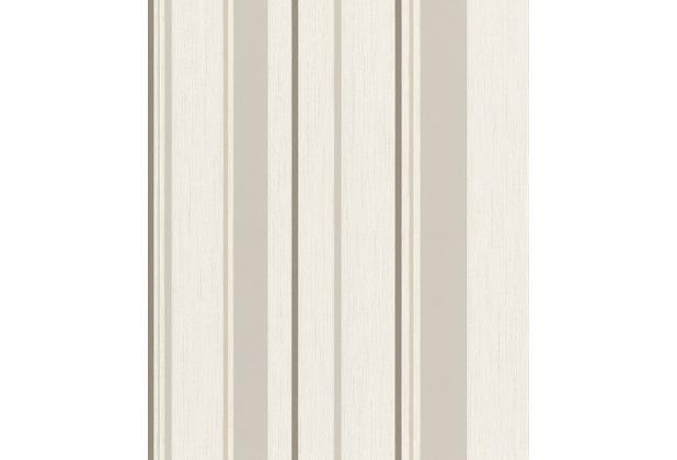 Rasch Vlies Tapete Streifen 536249 Rock´n Rolle Weiß 0.53 x 10.05 m
