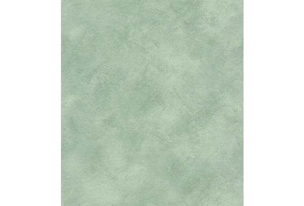 Rasch Vlies Tapete Uni 417081 Finca Grün-blaugrün 0.53 x 10.05 m
